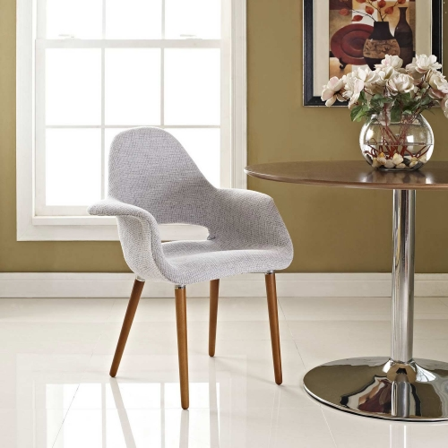 Aegis Dining Armchair - Light Gray
