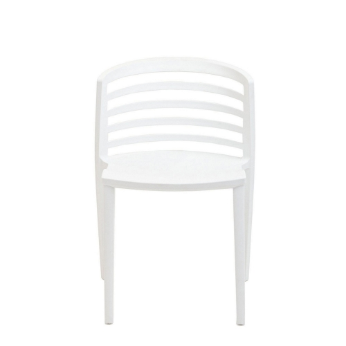 Curvy Dining Side Chair - White