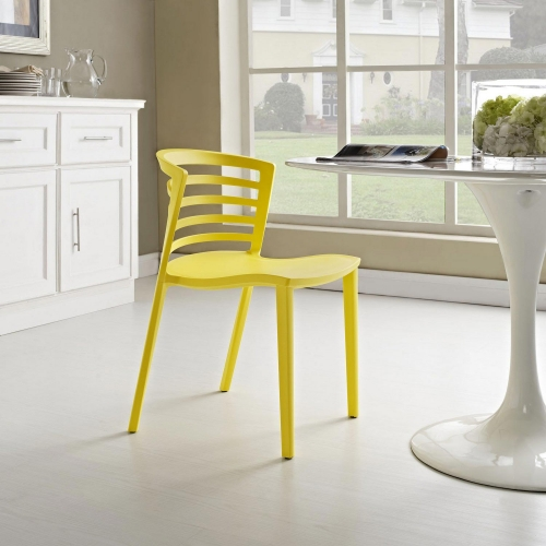 Curvy Dining Side Chair - Yellow