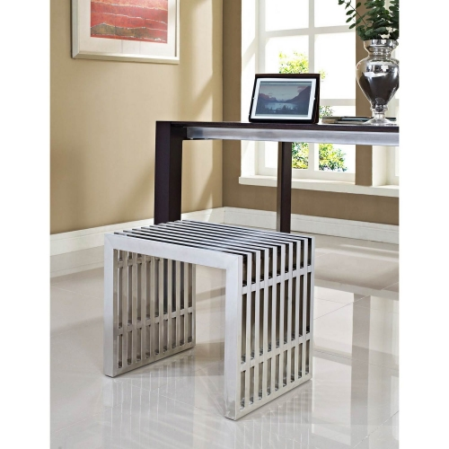 Gridiron Small Bench - Silver