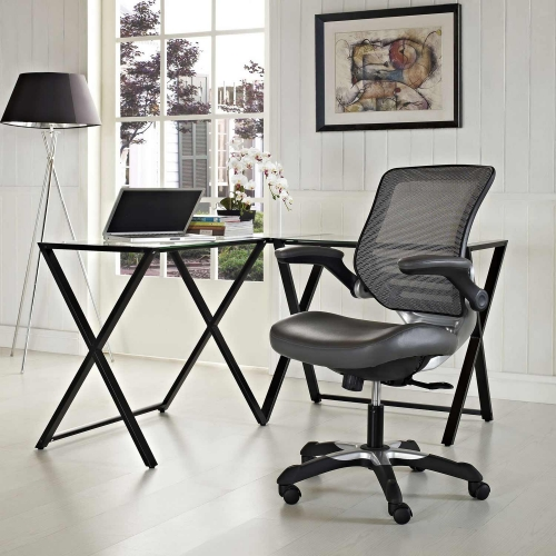 Edge Vinyl Office Chair - Gray