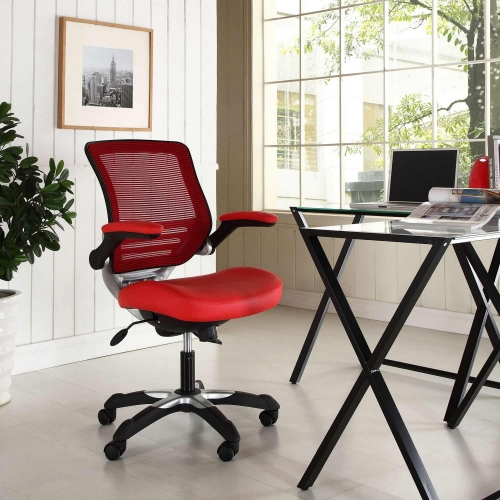 Edge Vinyl Office Chair - Red