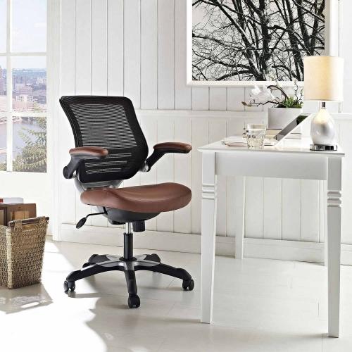Edge Vinyl Office Chair - Tan