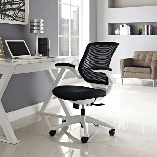 Edge White Base Office Chair - Black
