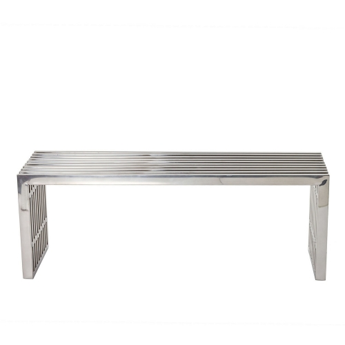 Gridiron Medium Bench - Silver