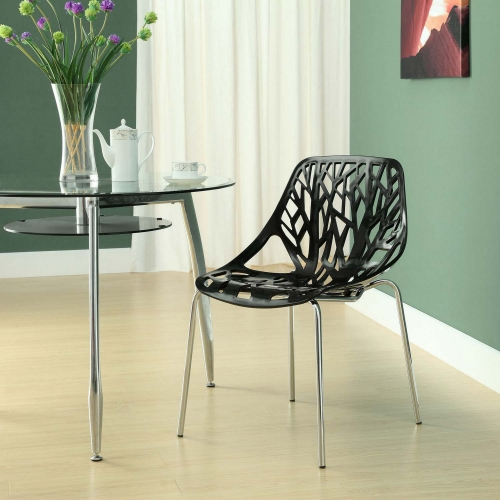 Stencil Dining Side Chair - Black