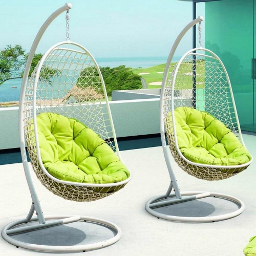 Encounter Swing Outdoor Patio Lounge Chair - White