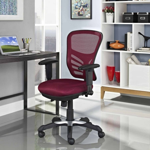 Articulate Mesh Office Chair - Red