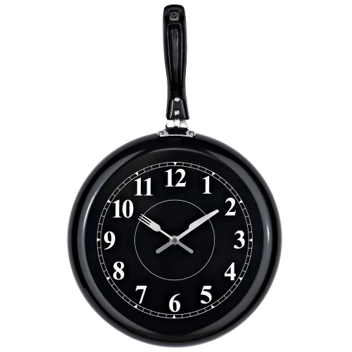 Pan Wall Clock - Black