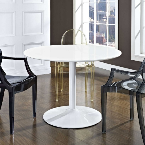 Revolve Dining Table - White