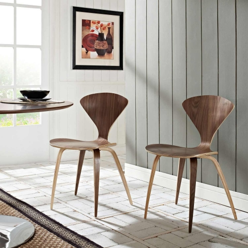 Vortex Dining Side Chair - Dark Walnut