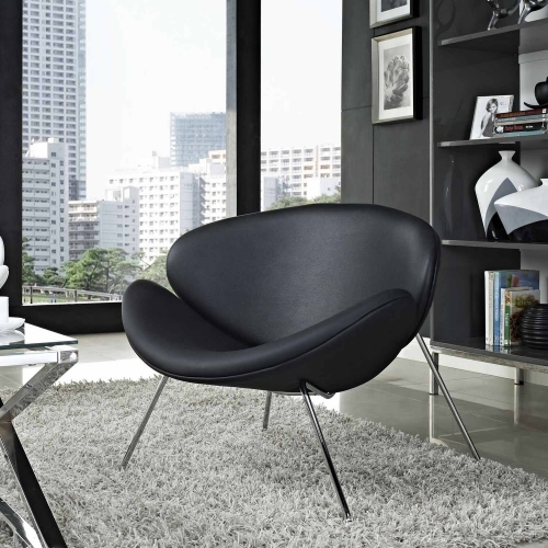 Nutshell Lounge Chair - Black