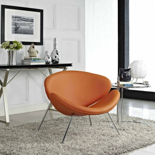 Nutshell Lounge Chair - Orange