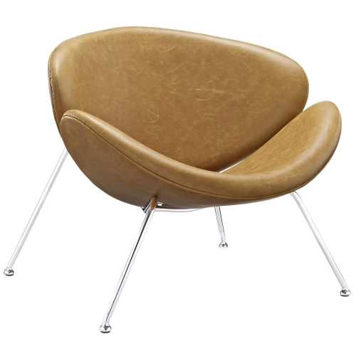 Nutshell Lounge Chair - Tan