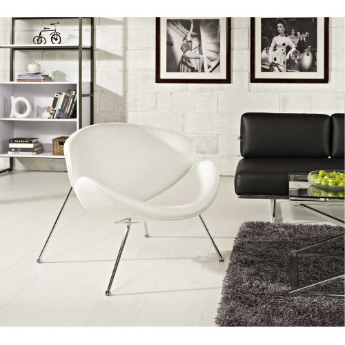 Nutshell Lounge Chair - White