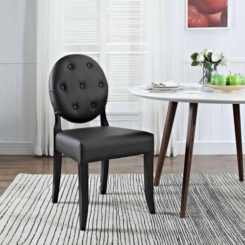 Button Dining Side Chair - Black