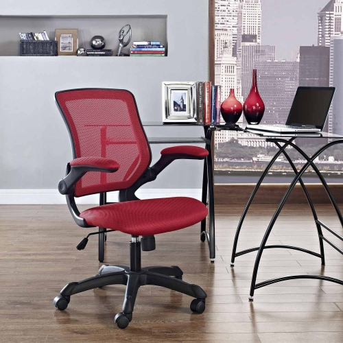 Veer Mesh Office Chair - Red