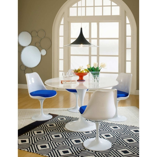 Lippa 5 Piece Fiberglass Dining Set - Blue