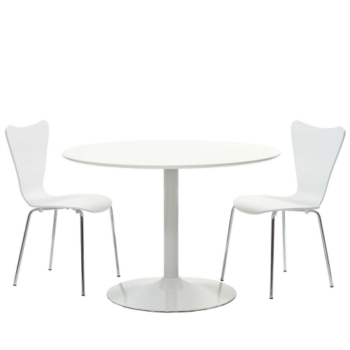 Revolve 3 Piece Dining Set - White
