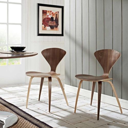 Vortex Dining Chairs Set of 2 - Dark Walnut