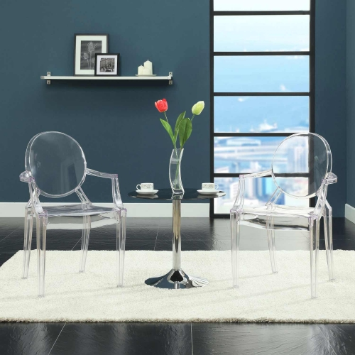 Casper Dining Armchairs Set of 2 - Clear