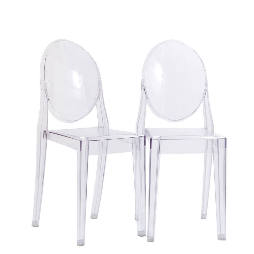 Casper Dining Chairs Set of 2 - Clear