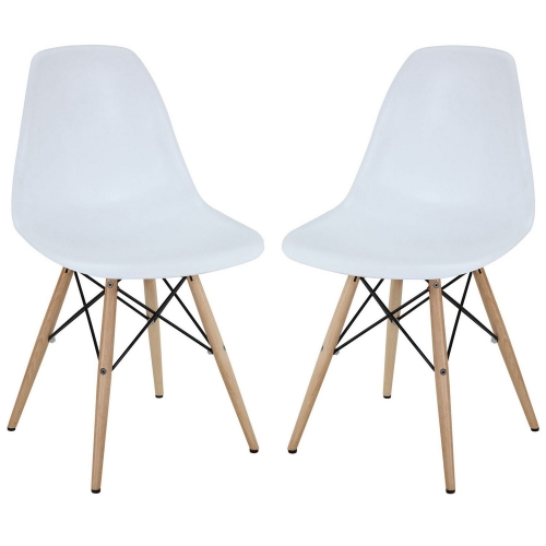 Pyramid Dining Side Chairs Set of 2 - White