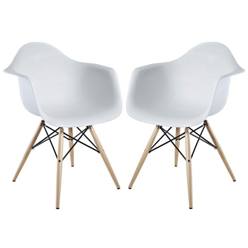 Pyramid Dining Armchair Set of 2 - White