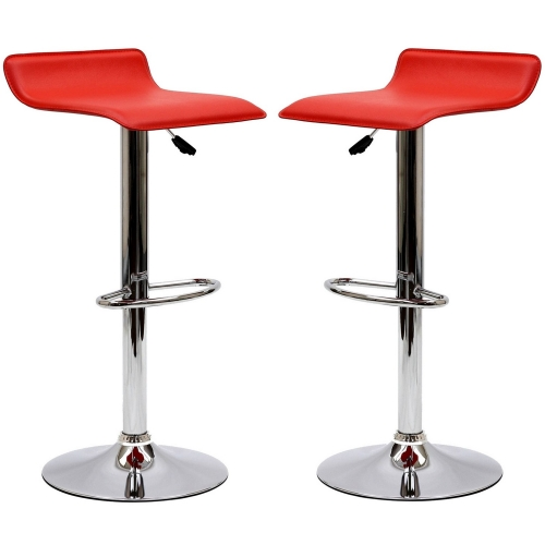 Gloria Bar Stool Set of 2 - Red