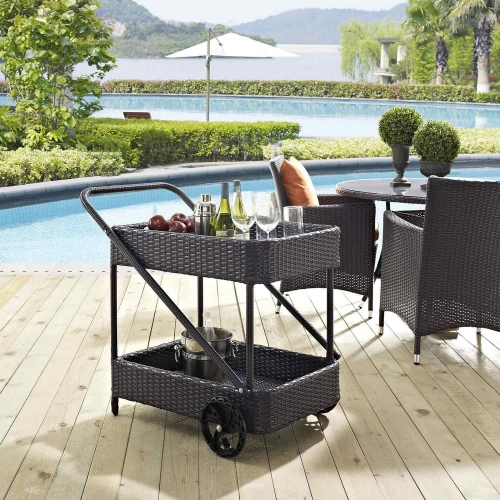 Replenish Outdoor Patio Beverage Cart - Espresso