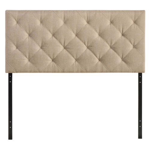 Theodore Queen Fabric Headboard - Beige