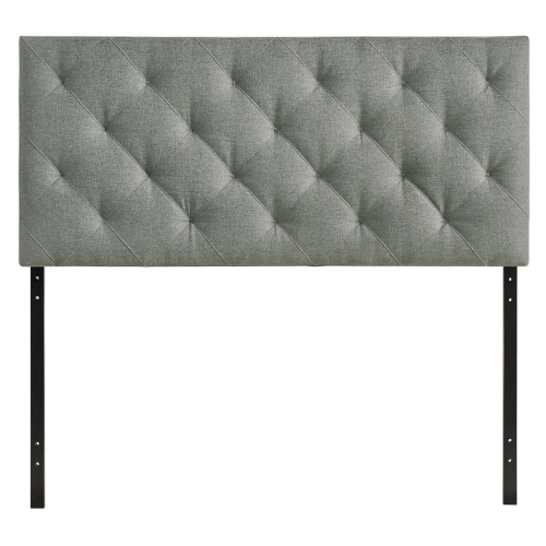 Theodore Queen Fabric Headboard - Gray