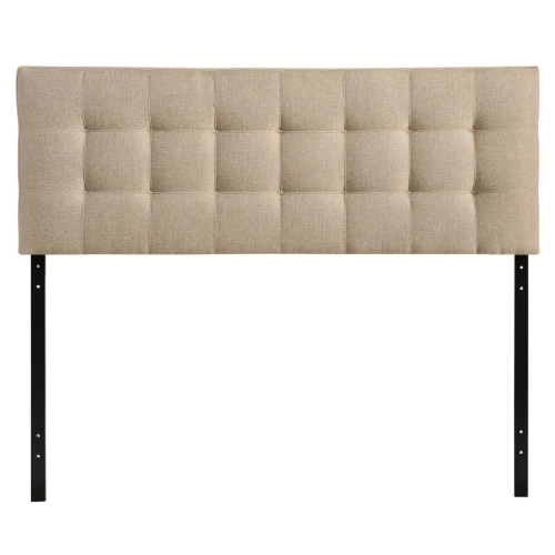 Lily Queen Fabric Headboard - Beige