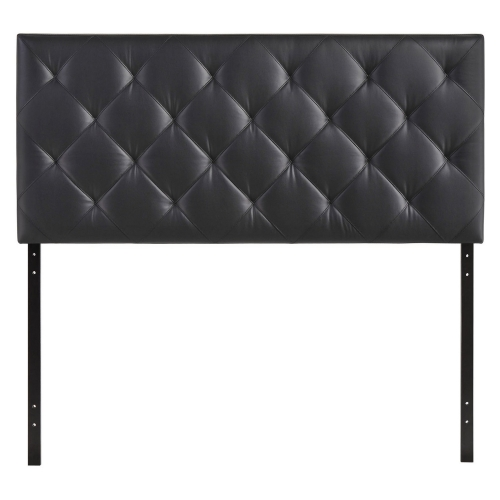 Theodore Queen Vinyl Headboard - Black