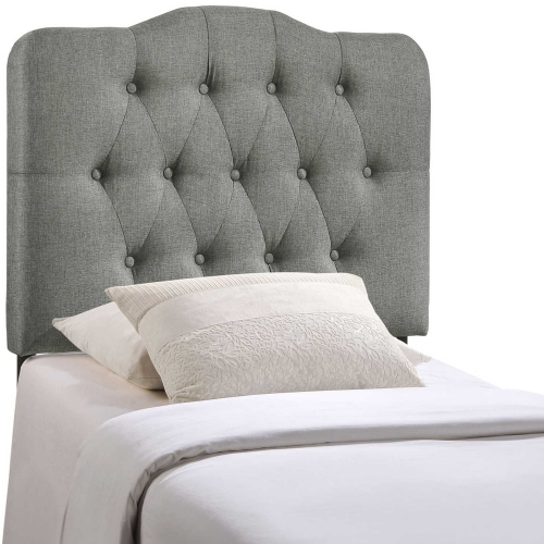 Annabel Fabric Headboard - Gray