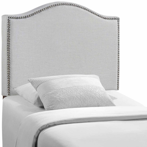 Curl Nailhead Upholstered Headboard - Sky Gray