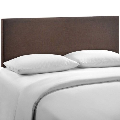 Region Queen Upholstered Headboard - Dark Brown
