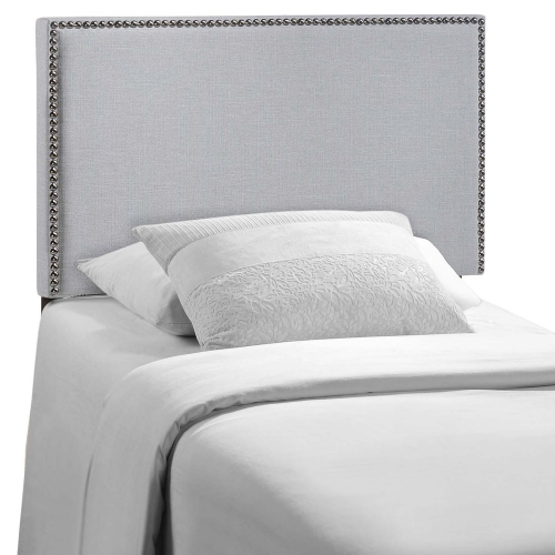 Region Nailhead Upholstered Headboard - Sky Gray