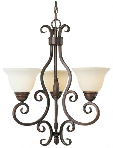 Manor 3 Lt. Chandelier
