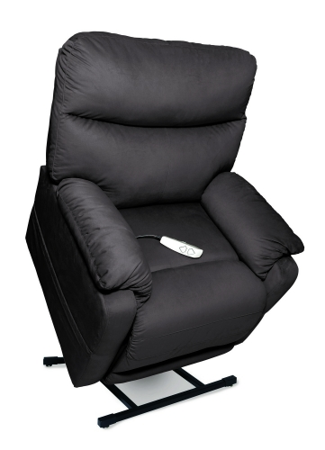 NM1750 Cloud 3-Position Power Lift Chaise Recliner - Charcoal