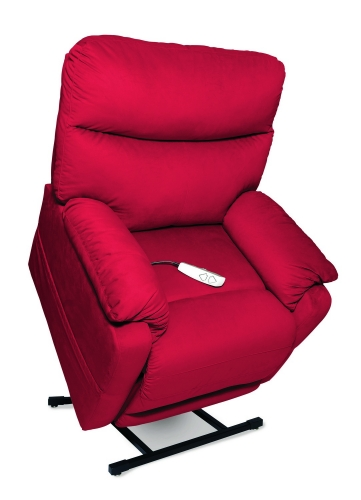 NM1750 Cloud 3-Position Power Lift Chaise Recliner - Crimson