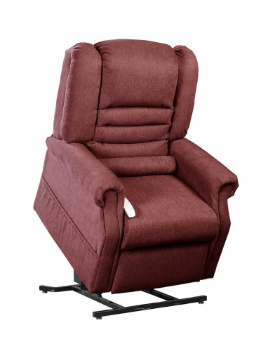 NM1850 Serene Infinite Position Power Lift Chaise Recliner - Burgundy