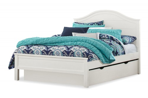 Highlands Bailey Arch Bed with Trundle - White
