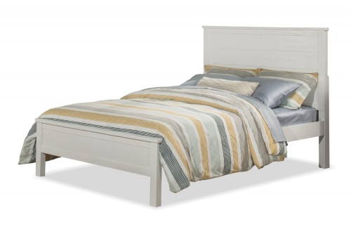 Highlands Alex Flat Panel Bed - White