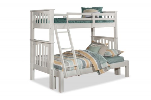 NE Kids Highlands Harper Twin/Full Bunk Bed - White Finish