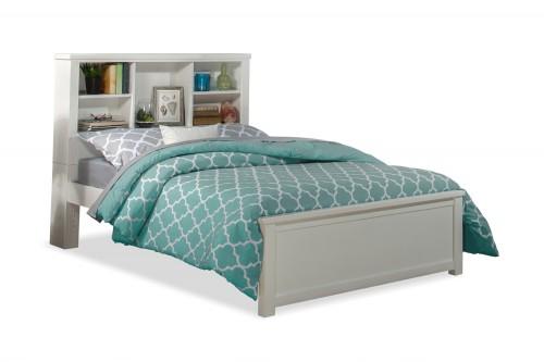 NE Kids Highlands Bookcase Bed - White