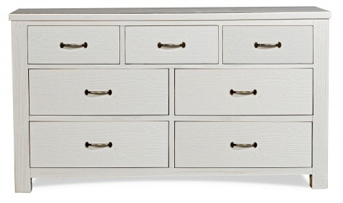 Highlands 7 Drawer Dresser - White Finish
