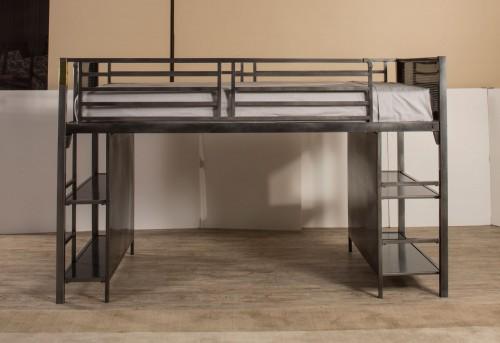 Urban Quarters Youth Junior Loft Bed - Black Steel