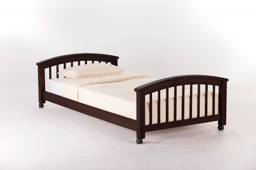 SchoolHouse Student Loft Twin Lower Bed - Chocolate