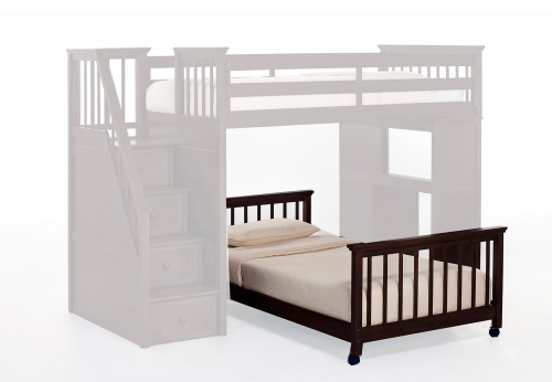 School House Twin Lower Stair Bed - Chocolate